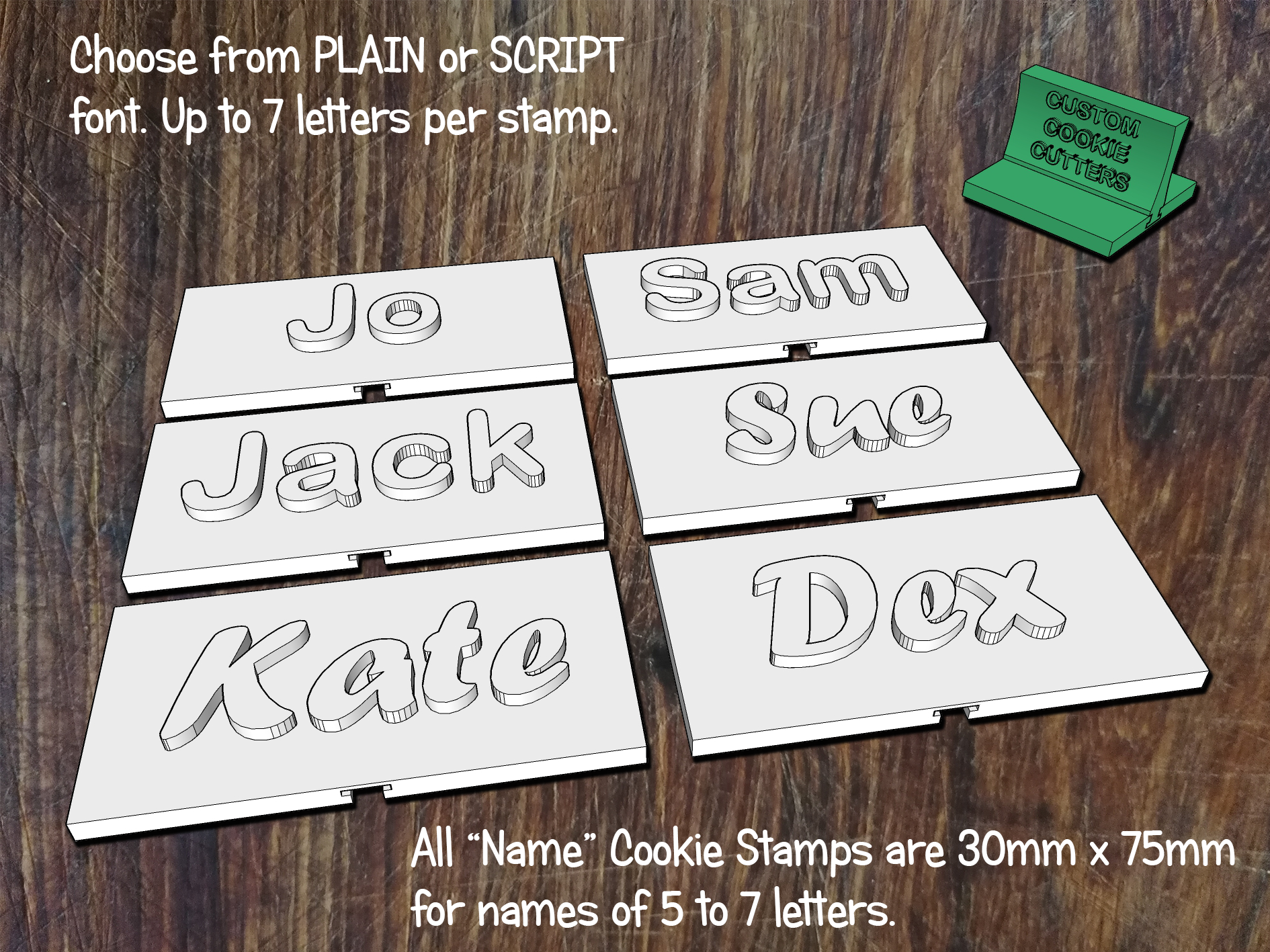 Names / Custom Text Stamps