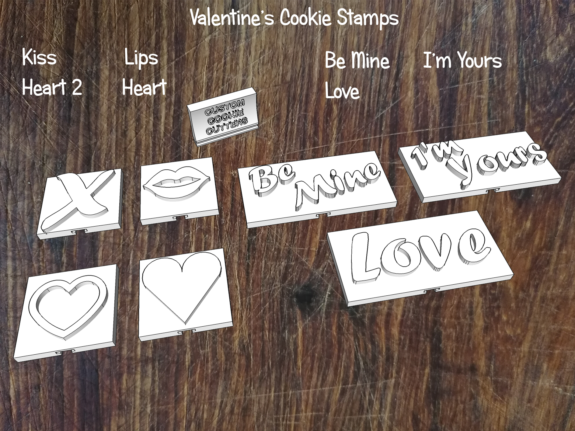 Valentine Cookie Stamps