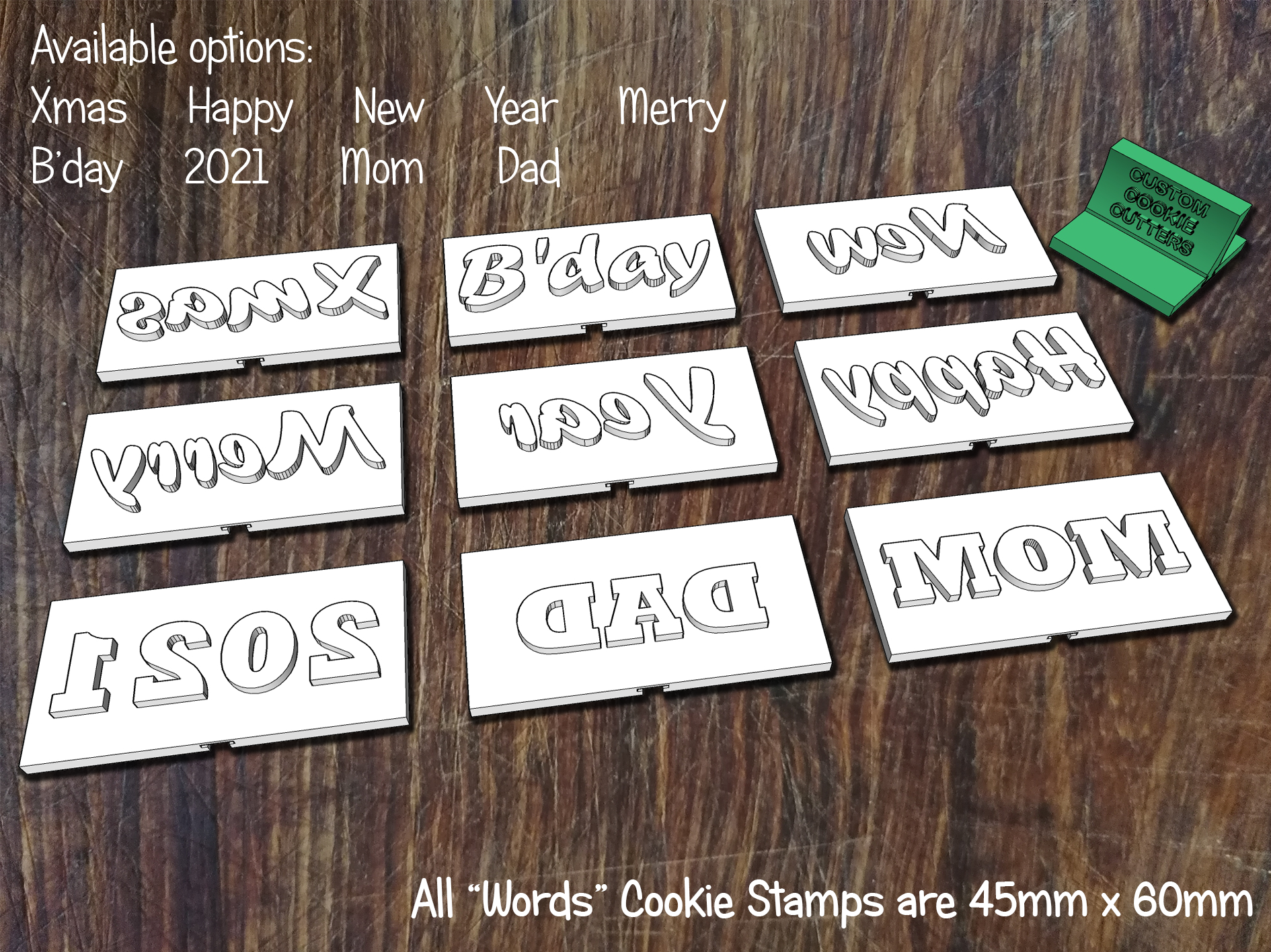 Words Stamps
