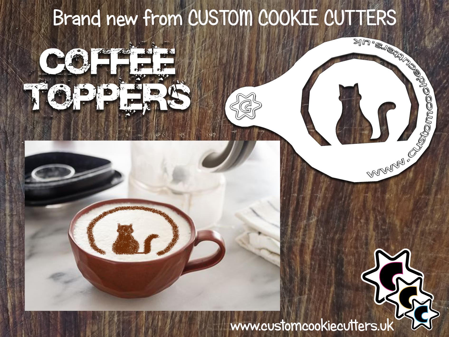 Cat Silhouette Coffee Topper