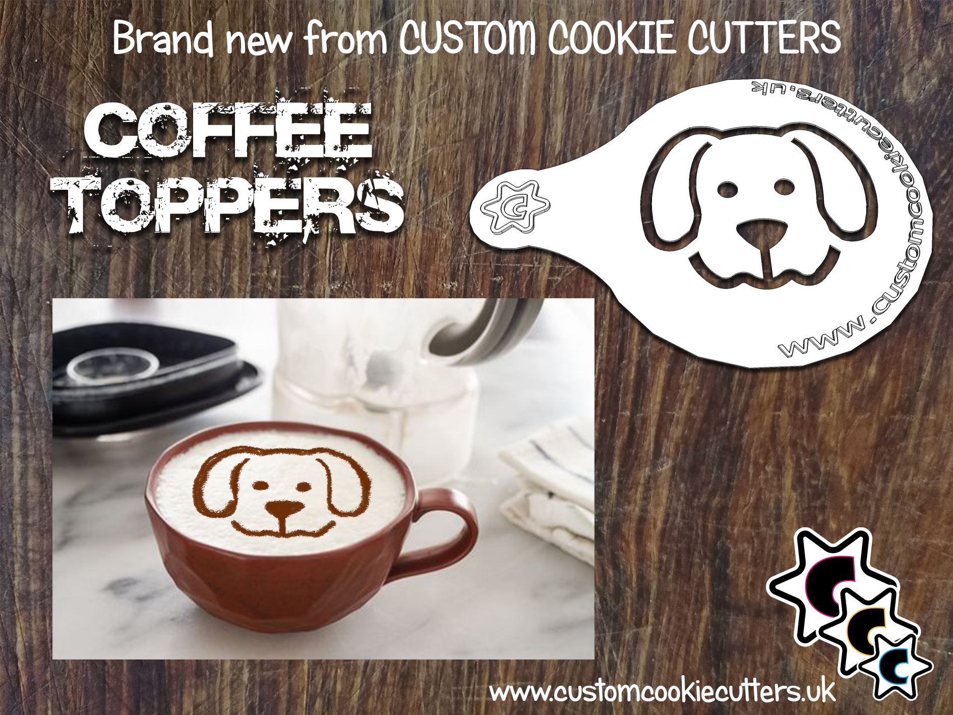 Dog Coffee Topper