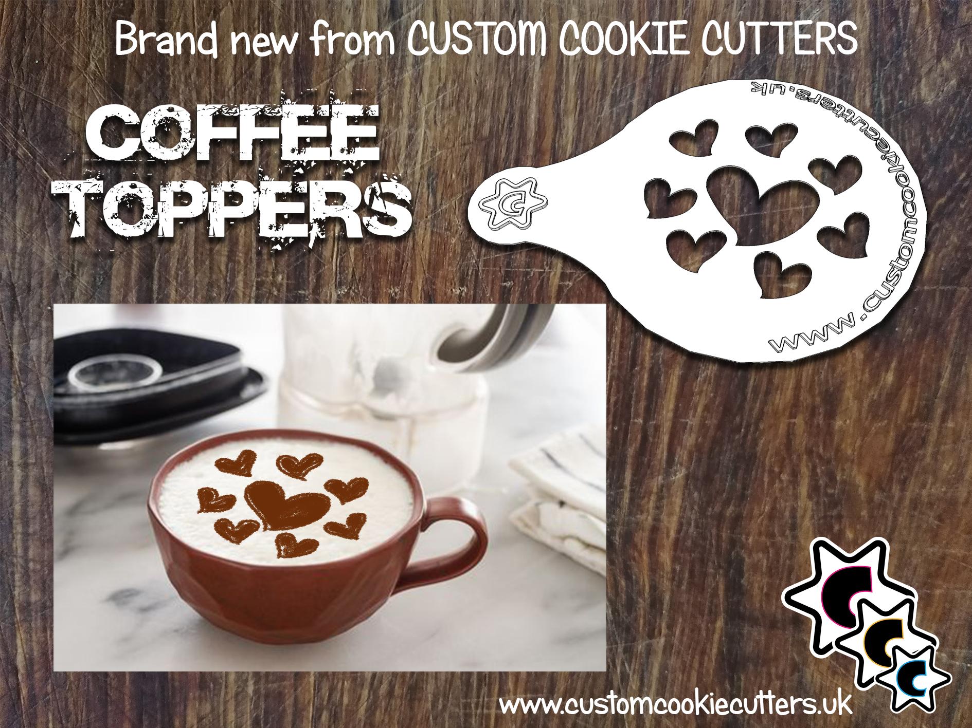 Hearts Coffee Topper