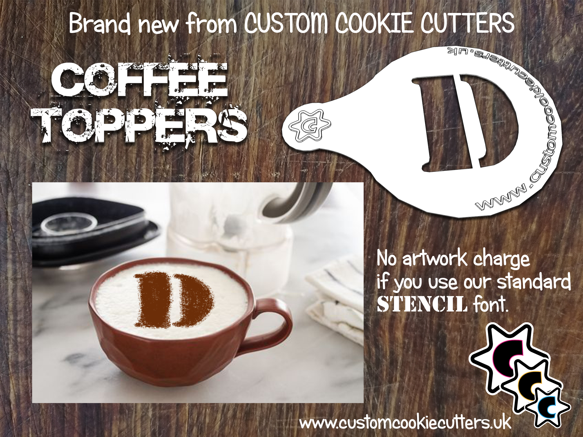 Single Letter Coffee Topper