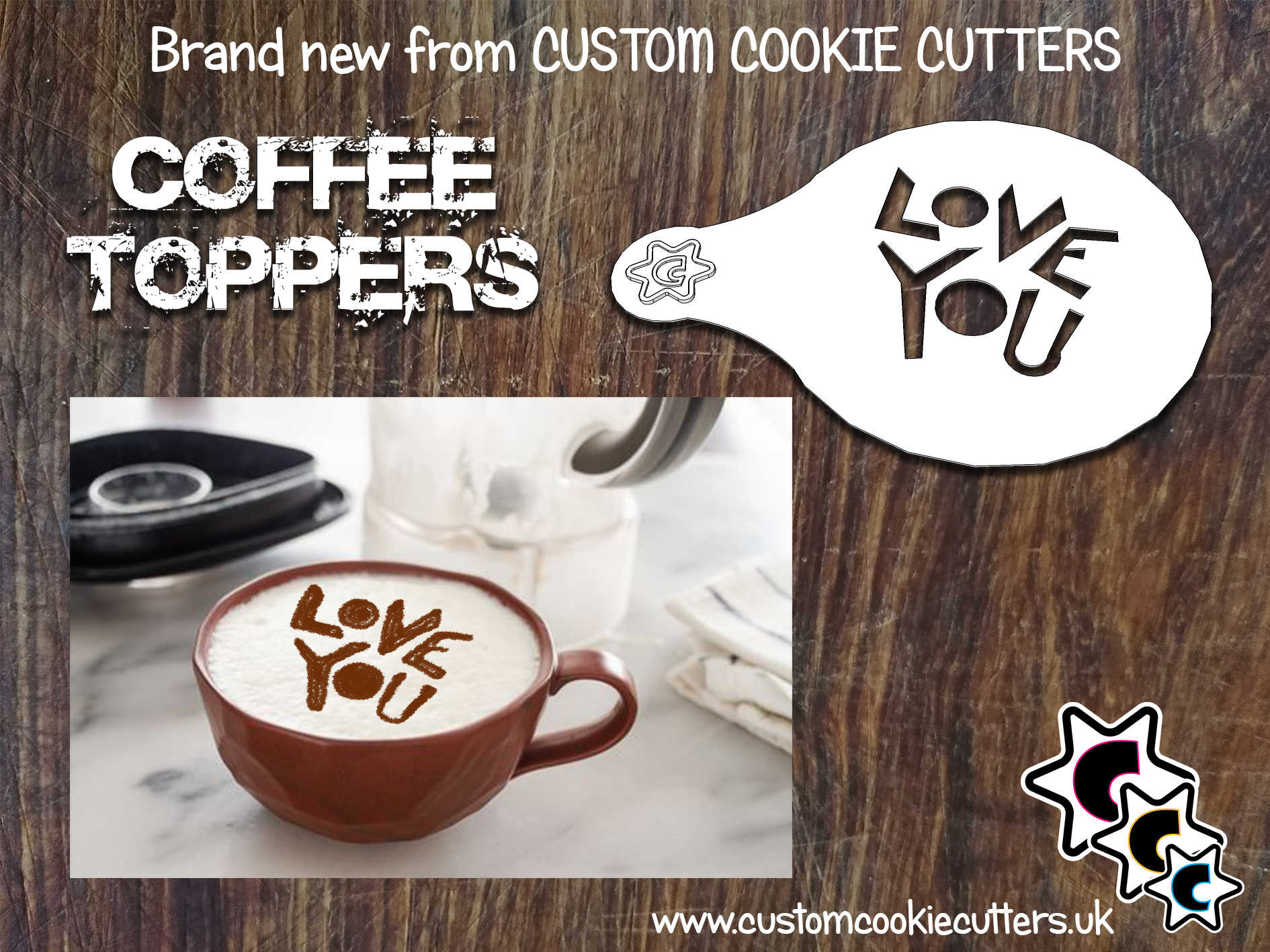 Love You Coffee Topper