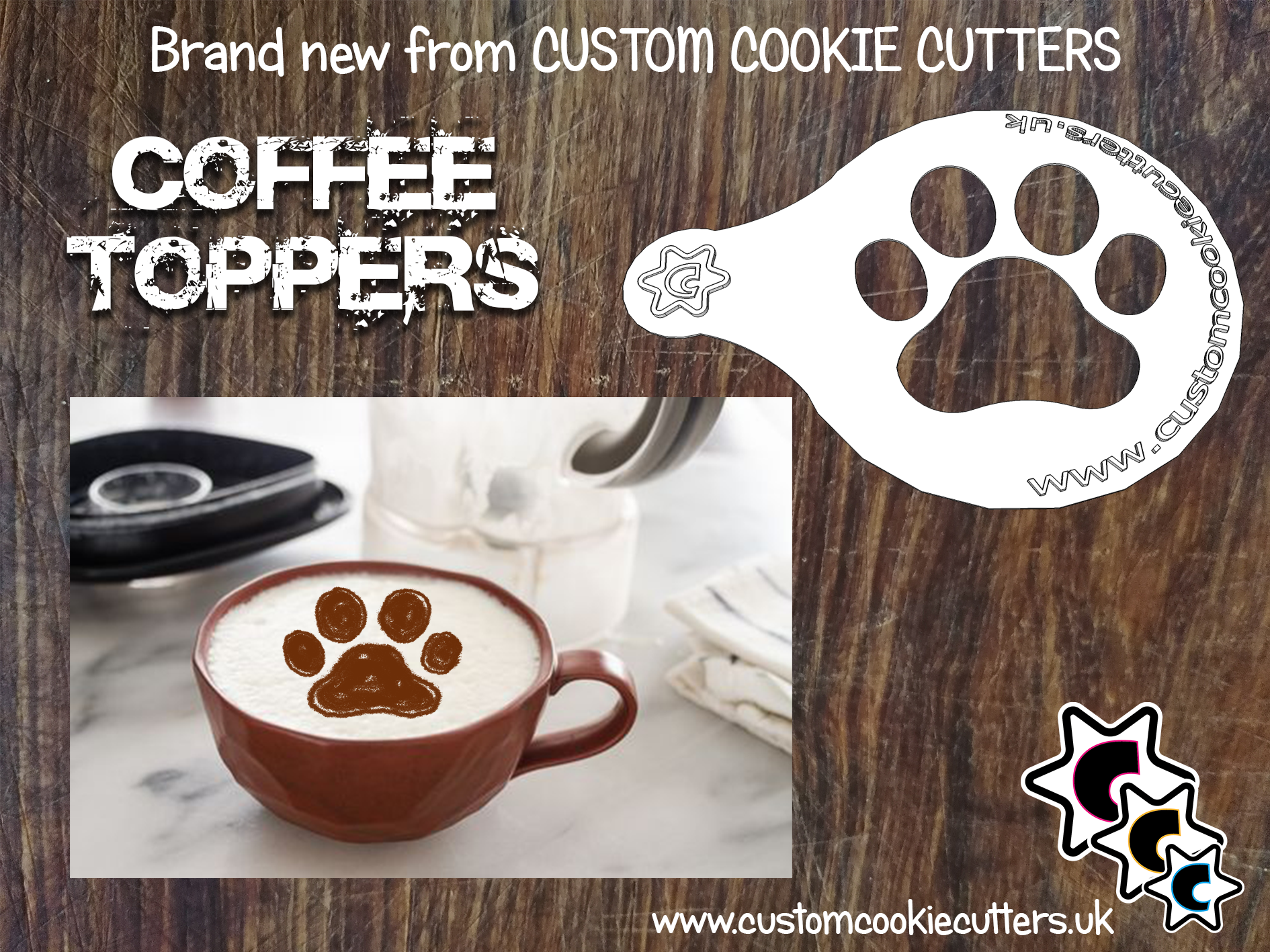 Paw Coffee Topper